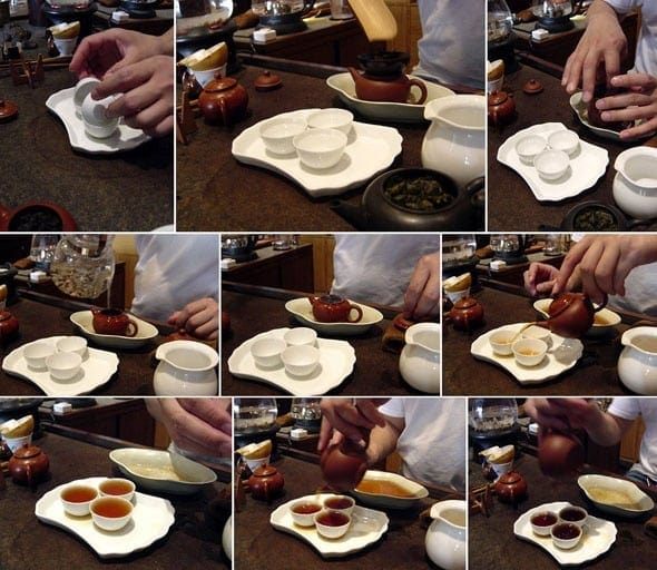 pha trà, công phu trà, kungfu trà, trà đạo trung hoa